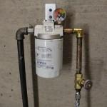 Boiler oil filter and OSV valve, (firomatic valve).