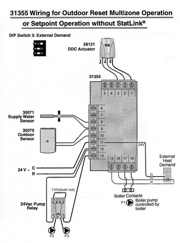 John's version of how to wire the HeatLink 31355 StatLink control.