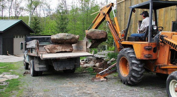 """Removing the old rock terrace into """"The Max"""""""