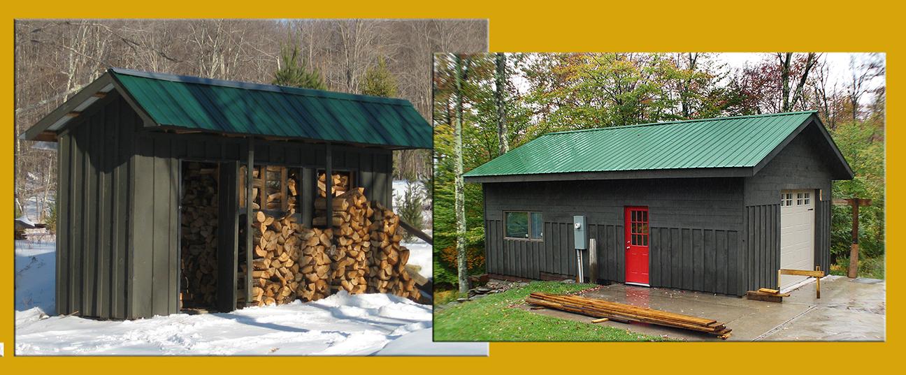 Wood Shed & Garage