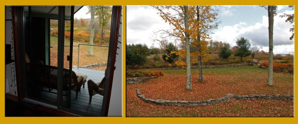 View from the new deck Fall 2014