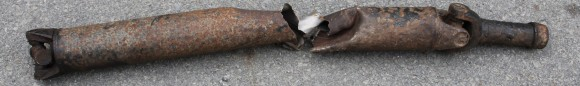 Twisted drive shaft from 93 Chevy Dump Truck.