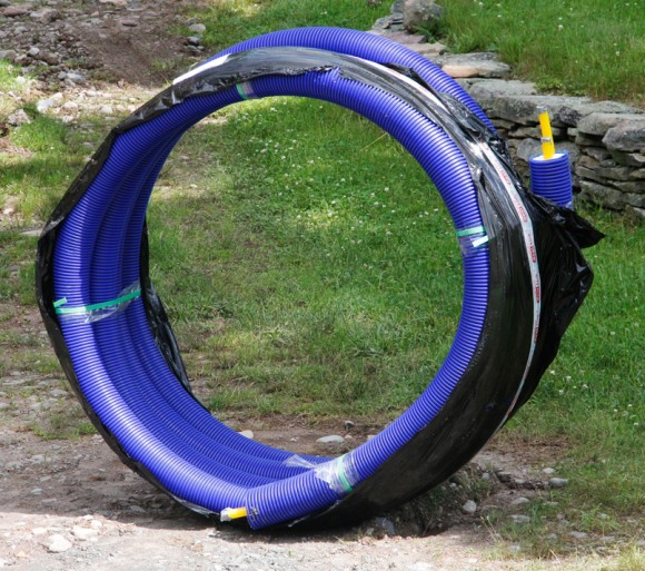 """58 feet of HeatSeal, dual 1"""" insulated underground pipe, by Heat Link."""