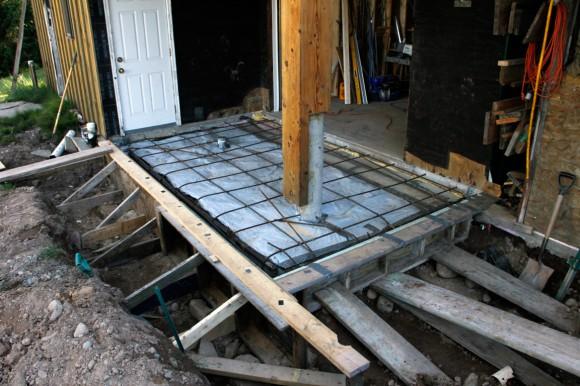 Ready for concrete pour.