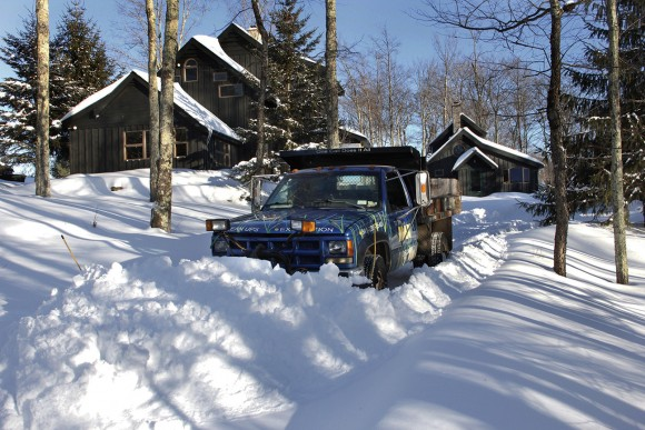 """The Max"" is finally being put to the test after being out of service last winter.  1 Ton Chevy dump. 4WD."